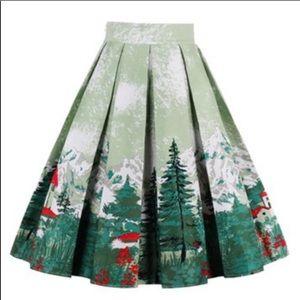 ModCloth Sucrefas Alpine Mountain Full Skirt XXL